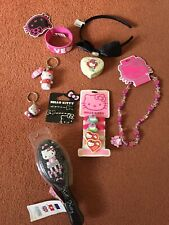 HELLO KITTY BUNDLE JEWELLERY 8 ITEMS BRACELET/FLANNEL/BRUSH KEYRING/BOW/PEN