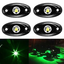 """4X 2"""" GREEN CREE LED Rock Light Off-Road Under Wheel Rig for JEEP ATV 4X4 Boat"""