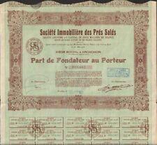 Soc. Immo. des PRES SALES, part (ARCACHON 33) (U)