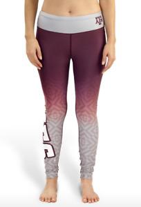 NCAA Women's Texas A&M Aggies Gradient Print Leggings, Maroon