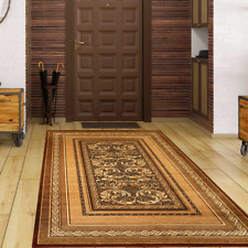 Teppich Klassisch Orientalisch Pflegeleicht und Robust Braun 8 versch. Größen