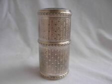 ANTIQUE FRENCH STERLING SILVER,CRYSTAL PERFUM BOTTLE SET,EARLY XX CENTURY.