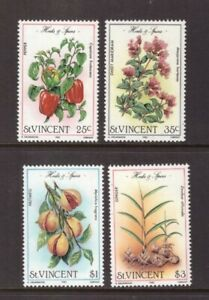 St Vincent 1985 Plants/Herbs and Spices set MNH mint stamps