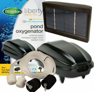 Blagdon Liberty Pond Oxygenator Solar Power Aeration Air Pump Battery Back Up UK