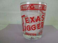 Texas Jigger shot Glass Bar Ware Houston Cowboys Longhorn Astrodome