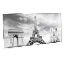 Framed Paris Eiffel Tower Scene Glass Glitter Wall Art  61cm x 31cm  LP28013
