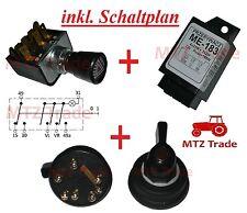Warnblinkschalter Schlepper Traktor Bagger RS09 GT124  Oldtimer MF Universal ZT