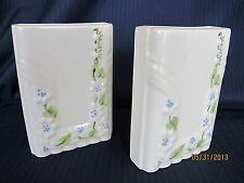 A Pair of Block Pottery Los Angeles California Wall Pocket Vase Art Deco