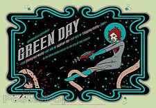 Tara McPherson Green Day Silkscreen Concert Poster 2005 Green Mint Rocket Girl