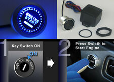 Universal Push Start Button Ignition Engine Start Starter Switch JDM Blue Led