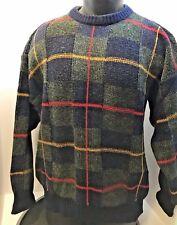 VTG 50's 60's MEN'S GAELTARRA Hand Crafted Ireland Men's Plaid Sweater 112cm 44