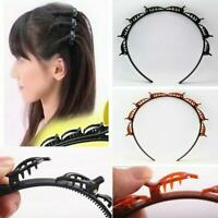 1/2PCS Bangs Hairstyle Hairpin Hairband Women Girls Headgear