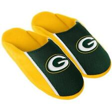 Pair of Green Bay Packers Big Logo TONAL Slide Slippers Slip on House shoes NEW