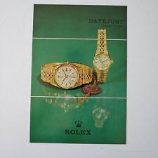 ROLEX Datejust   1970  Brochure Booklet Vintage Rolex  VF+ English