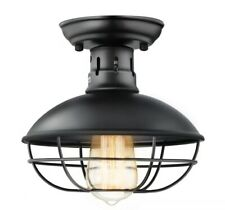 Industrial Ceiling Light Vintage Antique Cage Semi Flush Mount Ceiling
