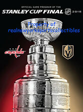 2018 STANLEY CUP FINAL PROGRAM VEGAS GOLDEN KNIGHTS WASHINGTON CAPITALS GAME 5