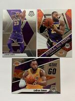LeBRON JAMES 2019-20 Panini MOSAIC (3) Card LOT LOS ANGELES LAKERS