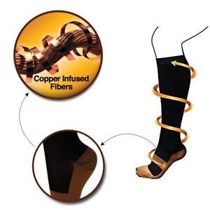 Mega Wide Calf Knee High Graduated 15-20mmHG Compression Support Socks