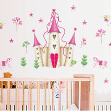 PRINCESS CASTLE WALL DECALS New Hearts & Stars Stickers Girls Bedroom Decor USA