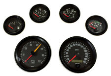 6 Gauge set VDO genuine with senders, Speedo,Tacho,Oil,Temp,Fuel,Volt, black