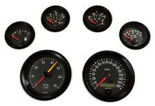6 Gauge set VDO genuine with senders, Speedo,Tacho,Oil,Temp,Fuel,Volt, black