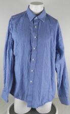 Michael Michael Kors Men's Size 17.5, 36/37 Blue Shirt Striped Long Sleeve BF