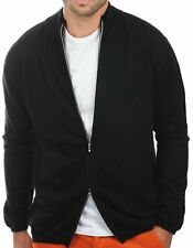 Balldiri 100% Cashmere cachemira señores chaqueta de punto 2-fädig negro XL