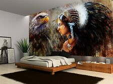 Native American Indian Woman Vintage Wall Mural Photo Wallpaper GIANT WALL DECOR