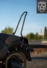 Sissybar für Softail Harley Davidson® Fat Boy, Edelstahl Schwarz Matt