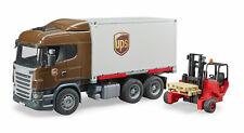 BRUDER 03581 UPS SCANIA Container Wechselbrücke Mitnahmestapler Bworld