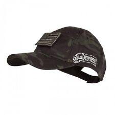 VOODOO TACTICAL Black Multicam CAP Hat Removable USA FLAG Patch! Adjustable New