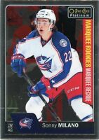 16/17 O-PEE-CHEE OPC PLATINUM ROOKIE RC #182 SONNY MILANO BLUE JACKETS *31776