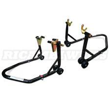 STVK Montageständer Hinterrad und Vorderrad Motorrad Ständer Motorradheber Set