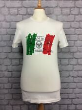 ARMANI JEANS MENS UK L ITALY LOGO WHITE T-SHIRT  MADE IN ITALY