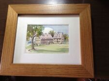 2 Lancaster, PA watercolors paintings of Historic structures by V. Diffenderffer