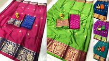 Traditional Wear Saree Designer Indian Wedding Pakistani Sari cotton silk