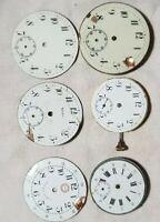 orologi da tasca 3 Movimenti 3 quadranti per pezzi di ricambio ,bilanciere ok