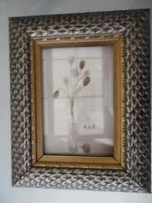 Heavy Ornate Shabby Chic Antique Silver Grey Picture Photo Frame Wedding Art