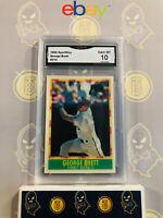 1990 Sportflics George Brett #214 Royals - 10 GEM MT GMA Graded Baseball Card