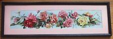 Framed*1900*Catherine Klein*Yardlong*Original Chromolitho/Print*Shower of Roses
