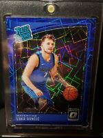 2018-19 Panini Optic Luka Doncic Blue Velocity Prizm Rookie RC Mavericks