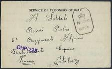 INDIA ITALY 1942 BOMBAY WWII PRISIONER OF WAR CAMP NO 14 LETTER FROM ITALIAN PRI