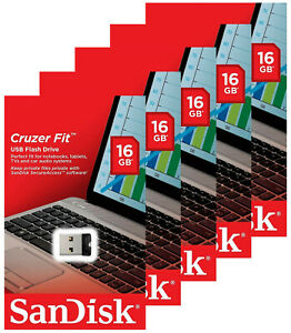 5 Pack SanDisk 16GB Cruzer Fit Micro USB 2.0 Flash Pen Drive SDCZ33-016G Retail