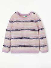 Nuevo Jersey De Jacquard John Lewis Chicas, púrpura rosado, 5 Años, Rrp £ 20