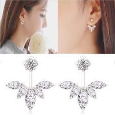 Fashion Jewelry Women Lady Elegant Crystal Rhinestone Ear Stud Earring Silver AS