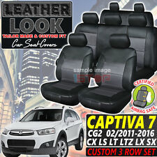 Holden CAPTIVA 7 CG Leather LOOK Seat Covers 02/2011-2018 CX LS LT LTZ LX SX Cg2