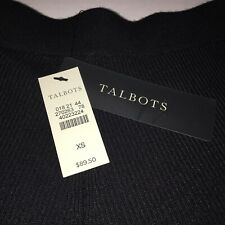Talbots Skirt Black Knit Womens sz XS  Ribbed Stretch NWT $89.50