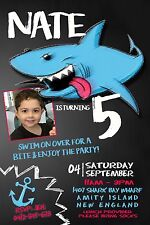 SHARK Invitation Birthday Water Pool Party Party Invite YOU PRINT Digital File