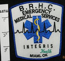 OKLAHOMA, MIAMI, BAPTIST REGIONAL HEALTH CENTER EMS EMERGENCY MEDICAL PATCH