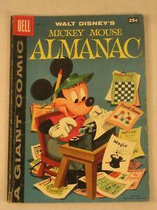 1957 NO. 1 DELL COMIC WALT DISNEYS MICKEY MOUSE ALMANAC GIANT COMIC